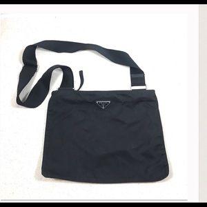 Authentic Prada Black  crossbody Messenger bag